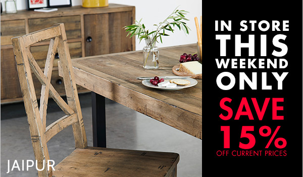 Jaipur Dining COllection - Save this Weekend