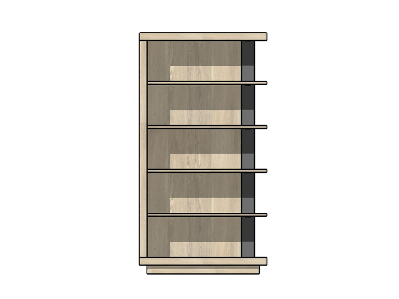 Tibro Feature Bookcase